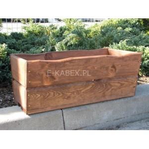 Drewniana skrzynia brązowa donica ogrodowa średnia