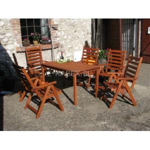 Drewniane fotele ogrodowe krzesło z serii Sorrento