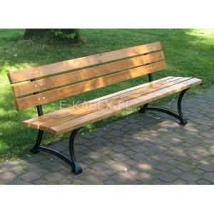 Wygodna drewniana ławka parkowa ława bez podłokietnika