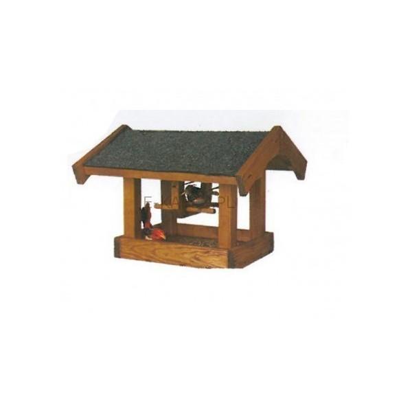 Hustawka Ogrodowa Drewniana Czestochowa : Karmnik dla ptaków DROZD  ekabex  Meble ogrodowe z drewna