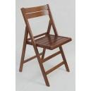 Drewniane krzesło składane bukowe wzmacniane