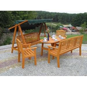 Drewniany Zestaw mebli ogrodowych EDEN