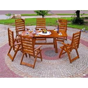 Rozsuwany stół ogrodowy z serii ROYAL