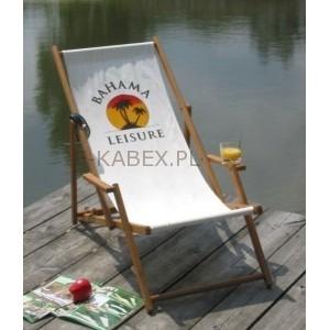 Wygodny drewniany leżak plażowy  BAHAMA składany