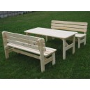 Wzmacniany drewniany zestaw mebli ogrodowych VIKING