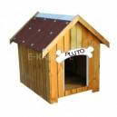 Ocieplana buda dla psa  z otwieranym dachem 80 x 60 x 80